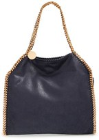 Stella McCartney 'Small Falabella - Shaggy Deer' Faux Leather Tote - Black