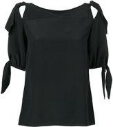 Dolce & Gabbana tie sleeve blouse - women - Silk - 42
