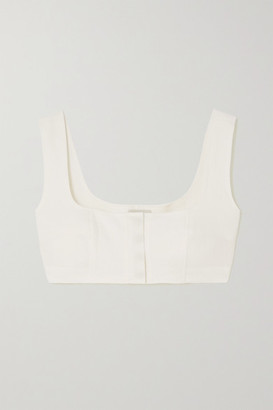 Le Kasha Jirja Cropped Linen Top - White