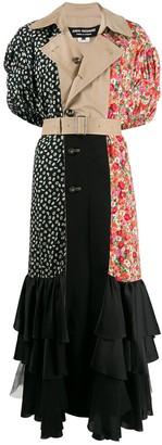 Junya Watanabe Patch-Work Trench Maxi Dress