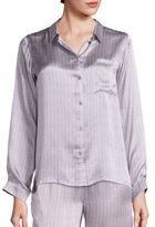 Asceno Ash Tile Silk Pajama Top