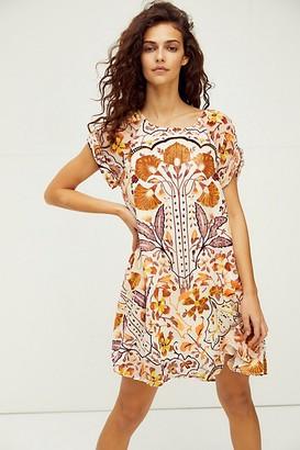 Free People Strawberry Fields Velvet Mini Dress