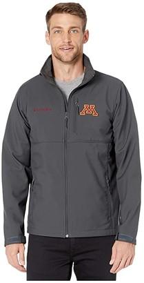 Columbia College Minnesota Golden Gophers Collegiate Ascendertm Softshell Jacket (Shark) Men's Coat