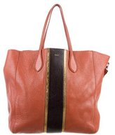 Rochas Scallop-Trimmed Leather Tote