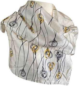 Pomellato White Silk Scarves