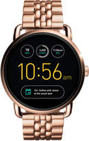 Fossil Q Wander Rose Gold-Tone Stainless Steel Bracelet Touchscreen Smart Watch 45mm FTW2112