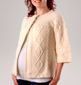 A Pea in the Pod 3/4 Sleeve Patterned Stitch Maternity Sweater Jacket