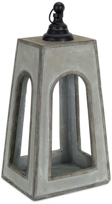 "Melrose International Lantern 16.25""H Cement"