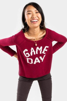 Game Day Pullover Sweater - Burgundy