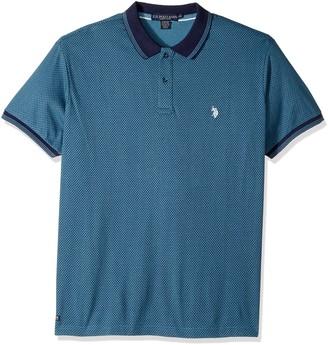 U.S. Polo Assn. Men's Slim Fit Printed Short Sleeve Jersey Polo Shirt