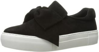 J/Slides Women's Beauty Fashion Sneaker Black Suede 6 M US