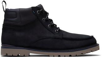 Toms Waterproof Black Suede Hawthorne Men's Boots