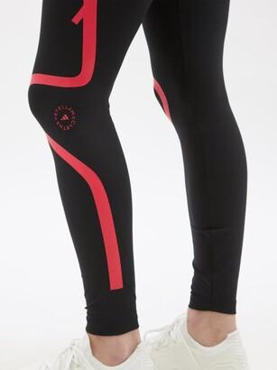 adidas by Stella McCartney Truepurpose High-rise Jersey Leggings - Black Pink