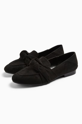 Topshop AYLA Black Knot Loafers