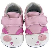 Jack & Lily Jack And Lily Girls' Pink Puppy Leather Mocs.