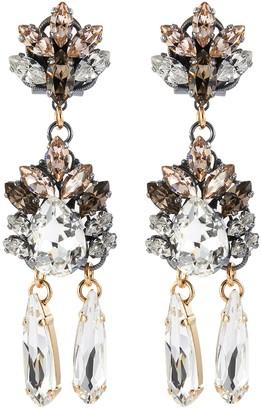 Anton Heunis 'Omega' floral motif embellished drop earrings