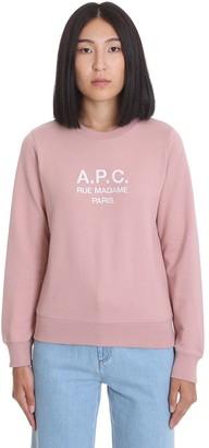A.P.C. Item Sweatshirt In Rose-pink Cotton