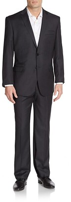 English Laundry Modern-Fit Solid Wool Suit