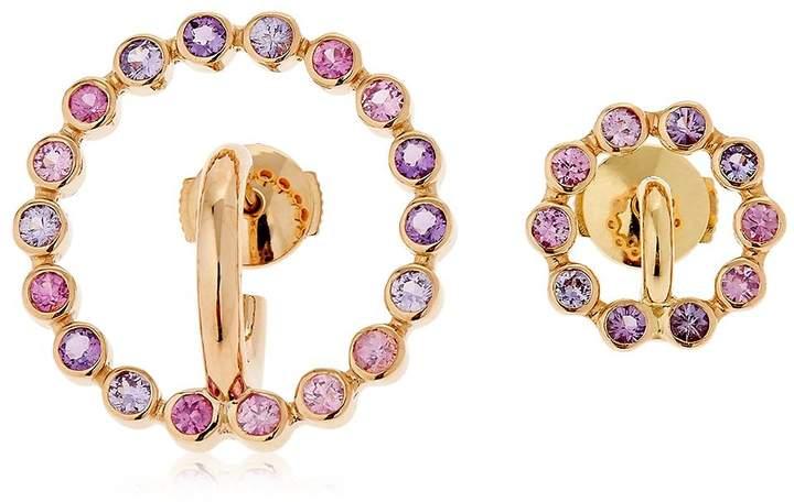 Charlotte Chesnais Saturn Sapphire & Amethyst Earrings