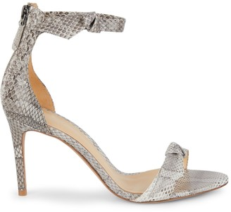 Alexandre Birman Clarita Snakeskin Leather High-Heel Sandals