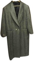 Gianni Versace Grey Wool Coat for Women Vintage