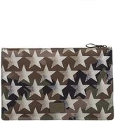 Valentino Military Green/sand Camustars Clutch