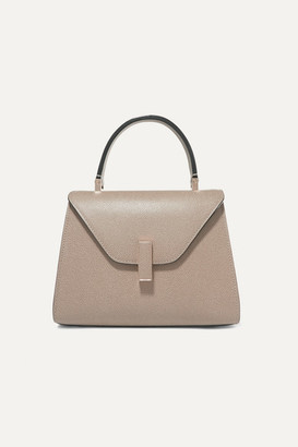 Valextra Iside Mini Textured-leather Tote - Beige