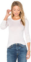 Enza Costa Crew Neck Long Sleeve Tee