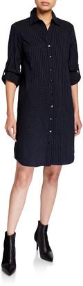 Finley Bailey Textured Stripe Button-Down Shirtdress