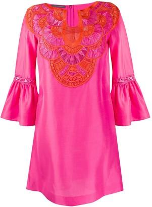 Alberta Ferretti Embroidered Kaftan Dress