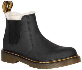Dr. Martens 2976 Leonore Faux Shearling Lined Chelsea Boot (Toddler & Little Kid)