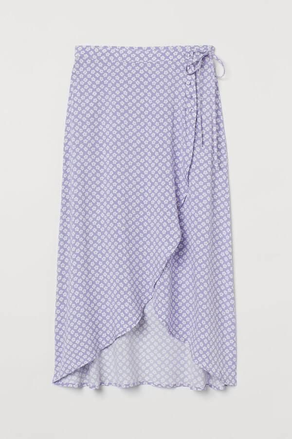 Thumbnail for your product : H&M Wrap-front Skirt - Purple