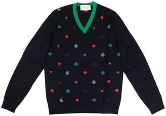 Gucci Blue Wool Knitwear & Sweatshirts