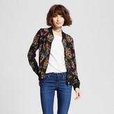 nitrogen Women's Floral Bomber Jacket Black