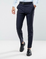 Reiss Slim Suit Pants In Navy