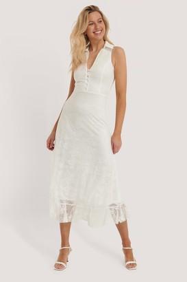 Trendyol Sleeveless Lace Midi Dress
