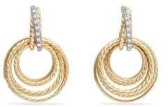 David Yurman Crossover? Drop Earrings with Diamonds in 18k Yellow Gold