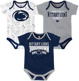 NCAA Baby Penn State Nittany Lions Playmaker 3-Pack Bodysuit Set