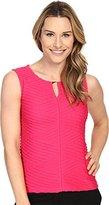 Calvin Klein Women's Textured Shell Top with Hardware