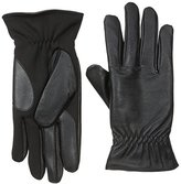 Isotoner Men's Smartouch Leather Glove with Stretch Palm