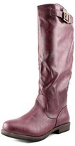 Journee Collection Amia Wide Calf Women Round Toe Synthetic Knee High Boot.