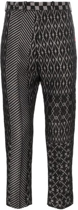 Haider Ackermann jacquard patterned trousers