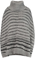 DKNY Ribbed-knit turtleneck cape