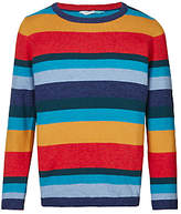 John Lewis Boys' Striped Knitted Jumper, Multi