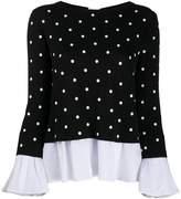 Semi-Couture Semicouture layered-effect polka dot jumper