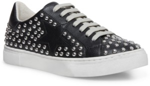 STEVEN NEW YORK Women's Riled Studded Lace-up Sneakers