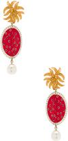 Dolce & Gabbana Red Oval Earrings