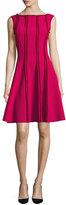 Jason Wu Sleeveless Frayed Stretch-Crepe Dress, Raspberry