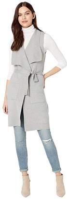 Cupcakes And Cashmere Carmen Drape Front Sweater Knit Vest