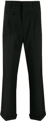 Marni split-hem pleated trousers
